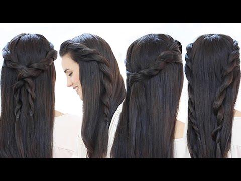 4 Peinados Faciles Con Trenzas De Cordon Mujer100com El Blog - Peinado-trenza-facil