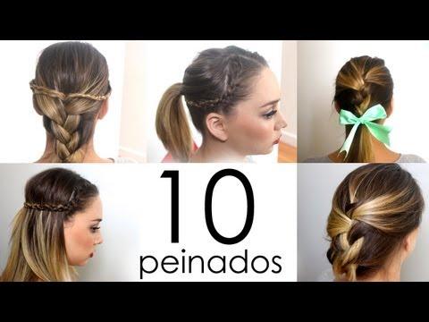 10 Peinados Faciles Y Rapidos Para Cabello Corto O Largo Mujer100